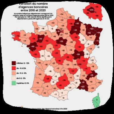 Déserts bancaires en France